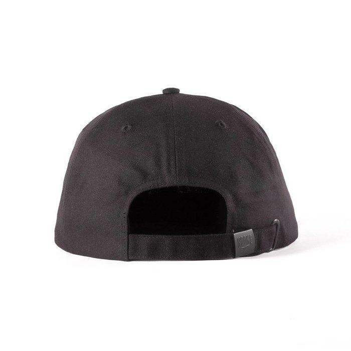 Hooké Waxed Strap Back Black