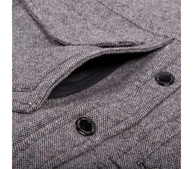 Veste Isolée Tweed Gris