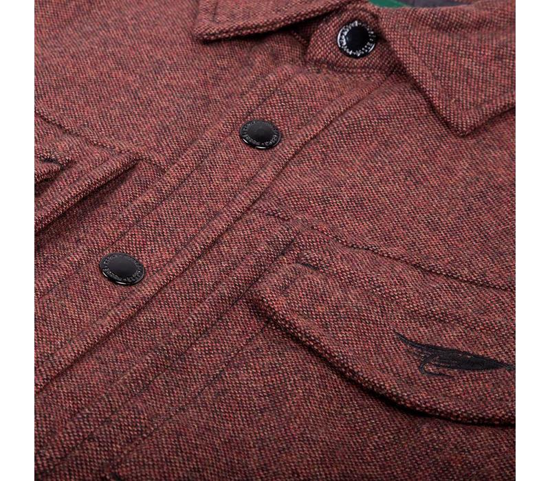 Veste Isolée Tweed Rouge brulé