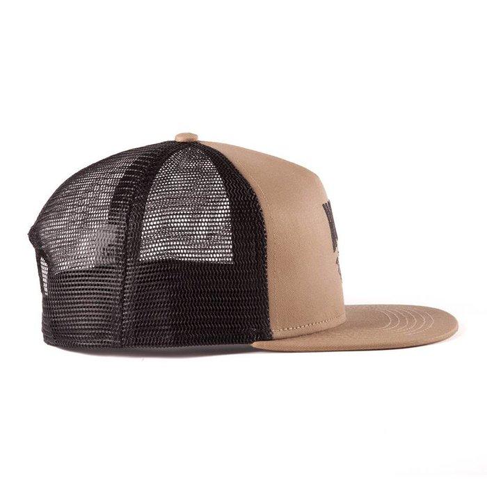 Fly Fishing Trucker Hat Camel & Black