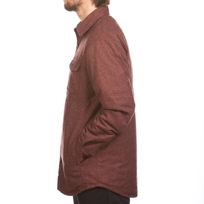 Tweed Insulated Jacket Red