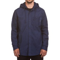 Hooded Shirt Washed Navy
