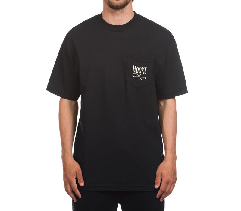 Wandering Blue Lines Pocket T Black