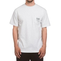 Wandering Blue Lines Pocket T Ash