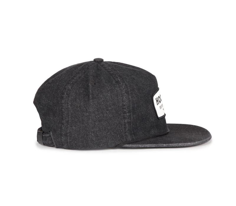 Patch Strap Back Washed Black