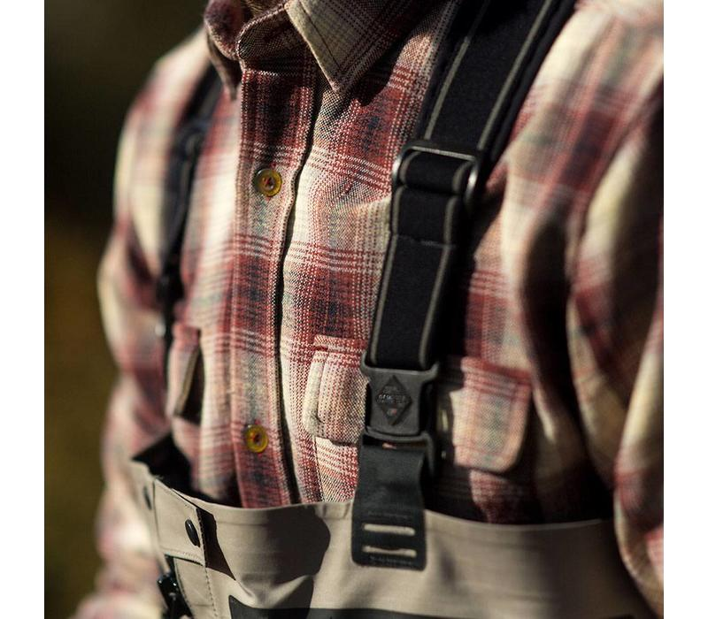 Adventure Shirt Cream & Red Plaid