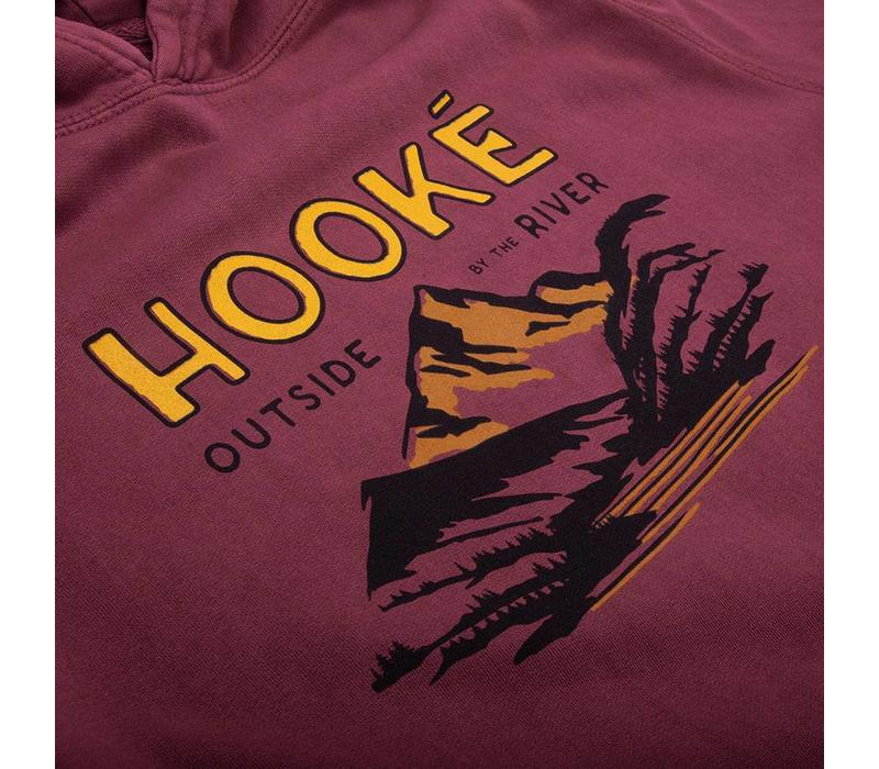 Outside By The River Hoodie Rouge Brique Vintage