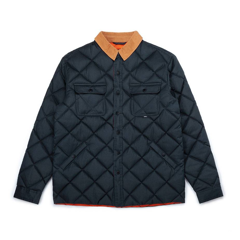 Waxed Quilted Jacket Navy