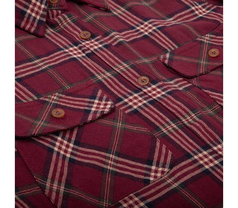 Women's Adventure Shirt Redwine Plaid