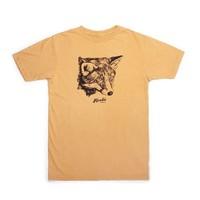 T-Shirt Fox Femme Moutarde Vintage