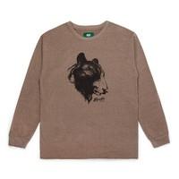 Bear Long Sleeve T-Shirt Heather Brown