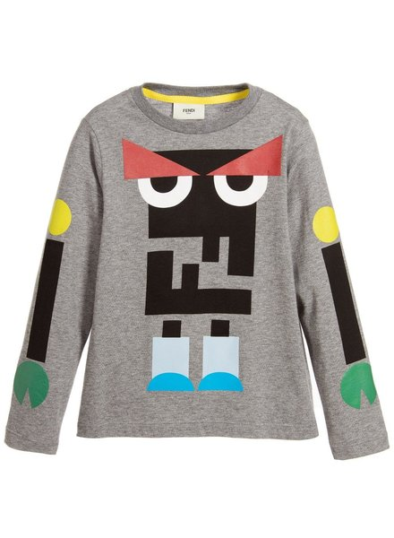 Fendi Fendi - T-Shirt L/S (Grey / Blue)
