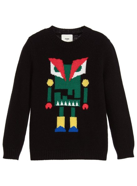 Fendi Fendi - Sweater (Black / Green)
