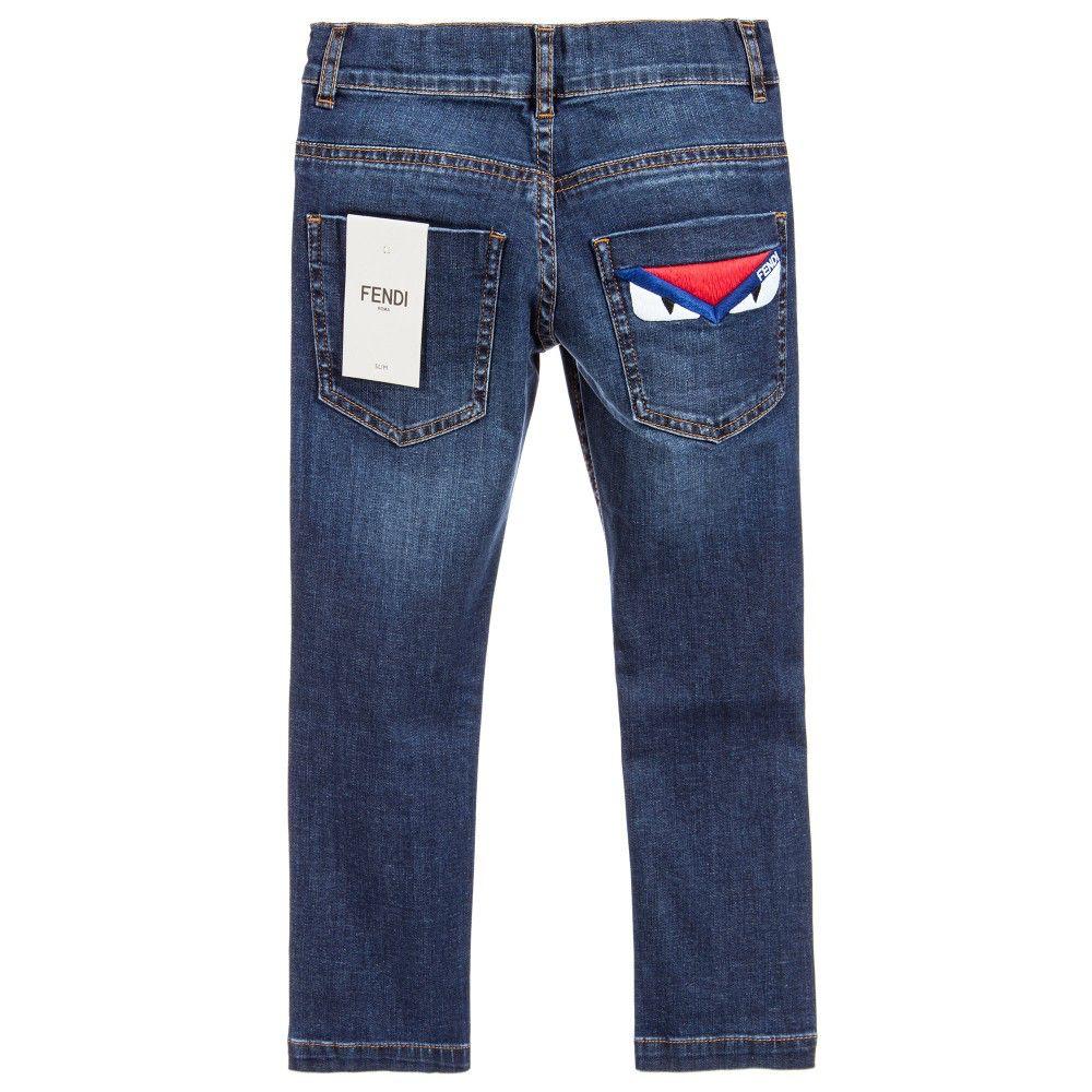 Eastbay Cheap Online Online Cheap Online DENIM - Denim trousers Fendi IsaK0QdiF