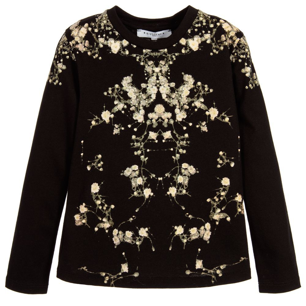 Lovely Givenchy - Girl's Long Sleeve T-Shirt - Adore BJ73