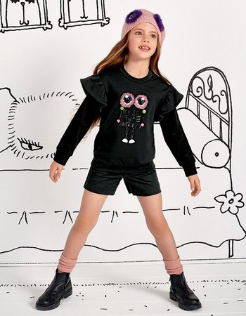 Fendi - GIrl's Black Sweater