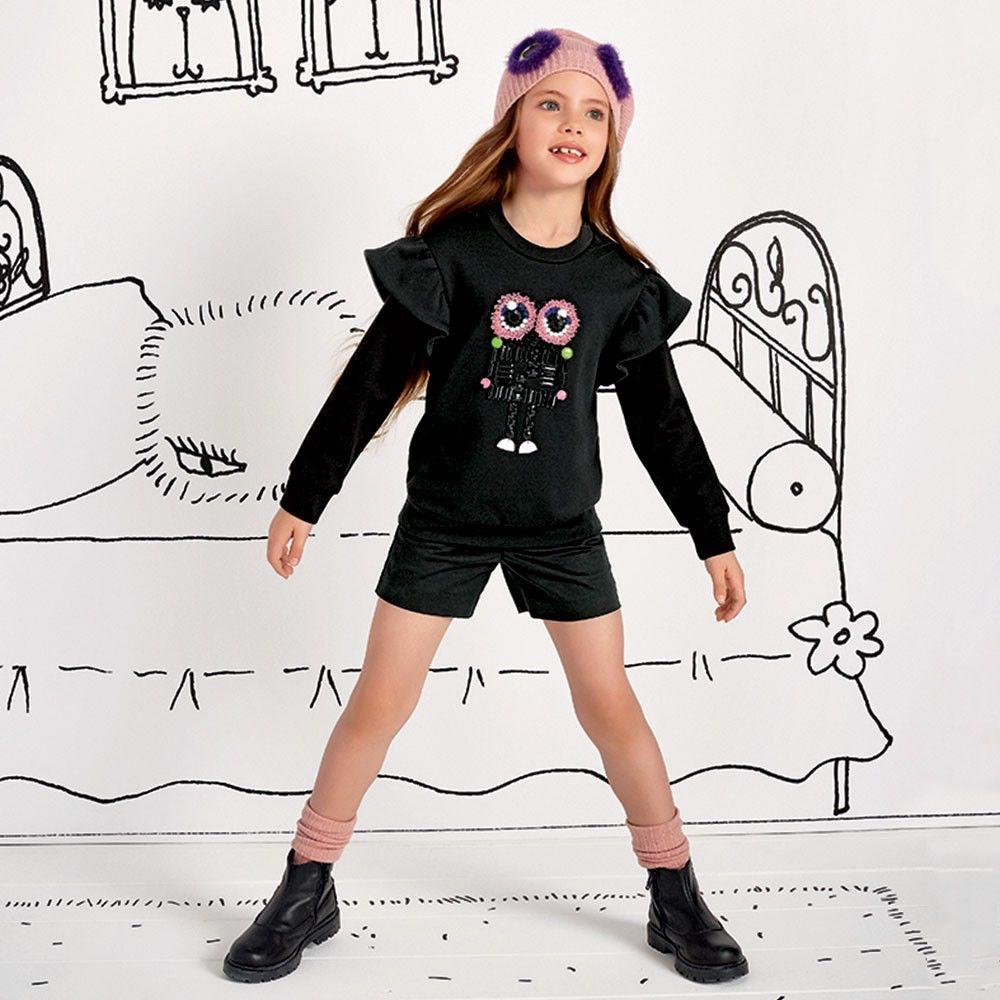 Fendi - GIrl's Black Sweater