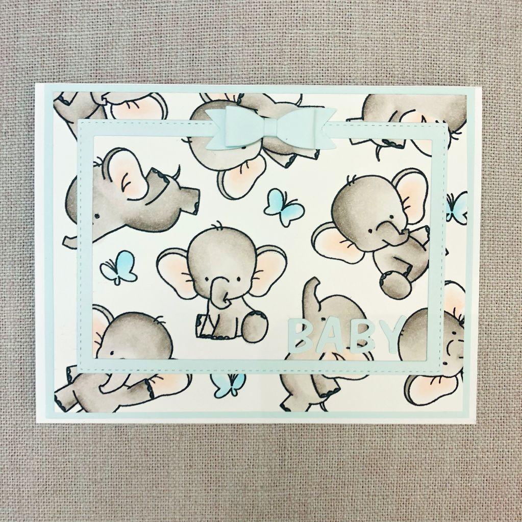 Card Card - Baby Blue