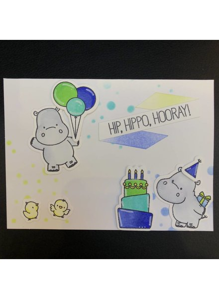 Card Card - Hip Hippo Hooray