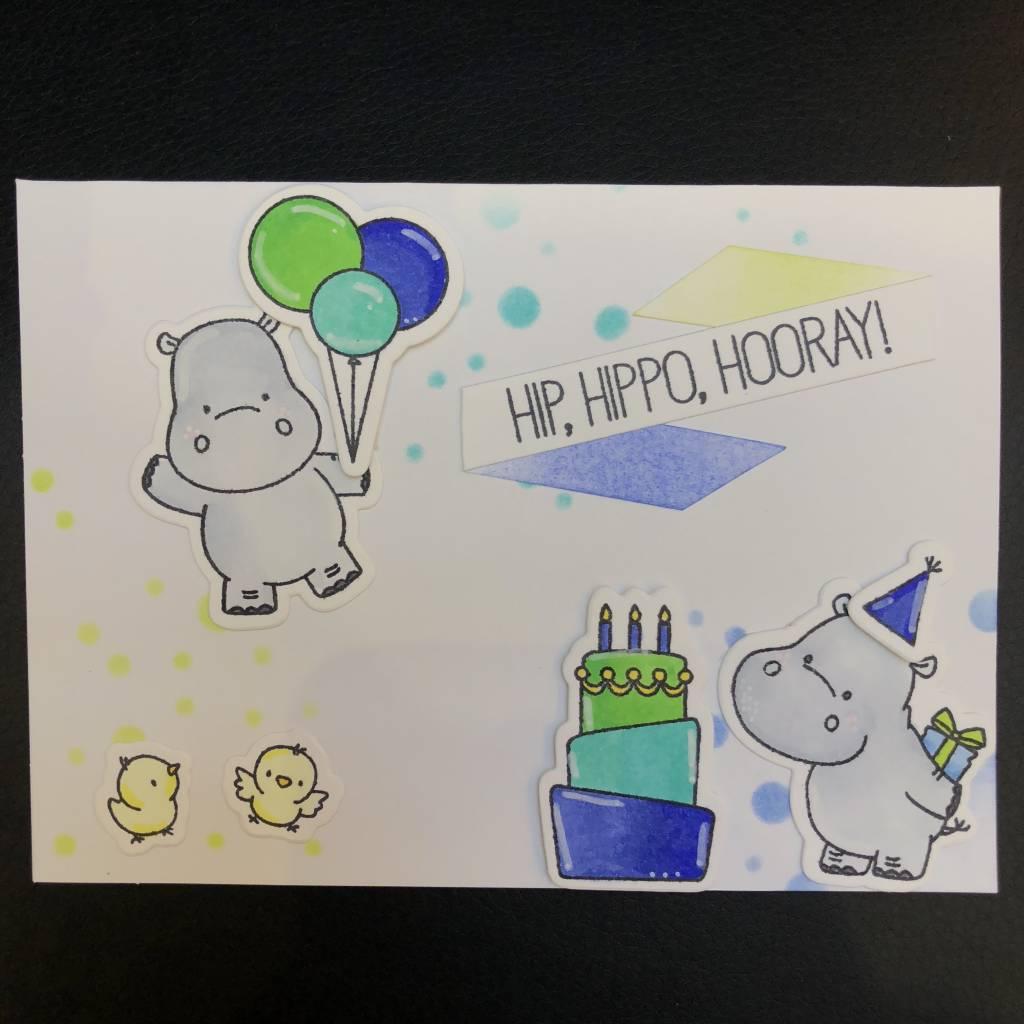 Card Card - Hip Hippo Hooray