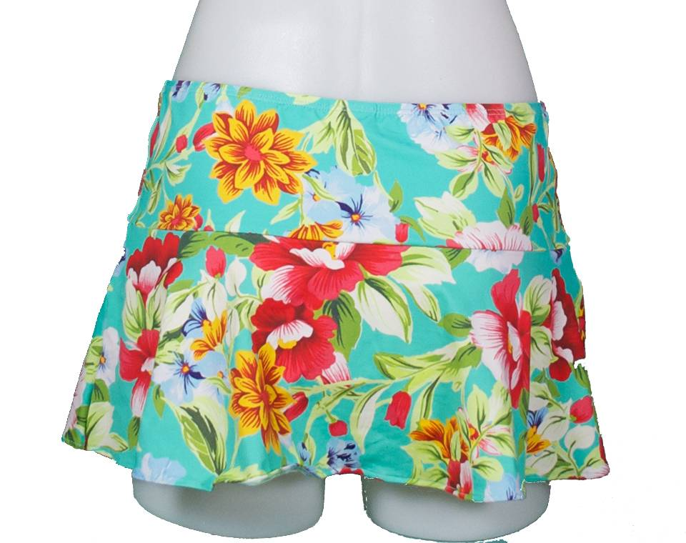 PUALANI SCALLOPED SKIRT W/ATTACHED BOTTOM