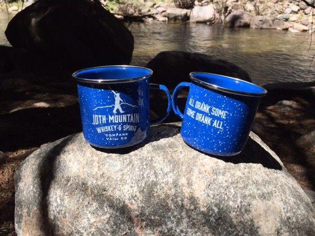 Blue Enamel Camping Mug