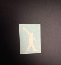 Sticker-Vinyl Soldier, Small, White