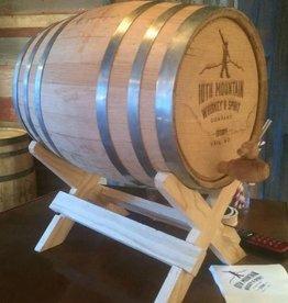 5 Gallon Logo'd Whiskey Barrel