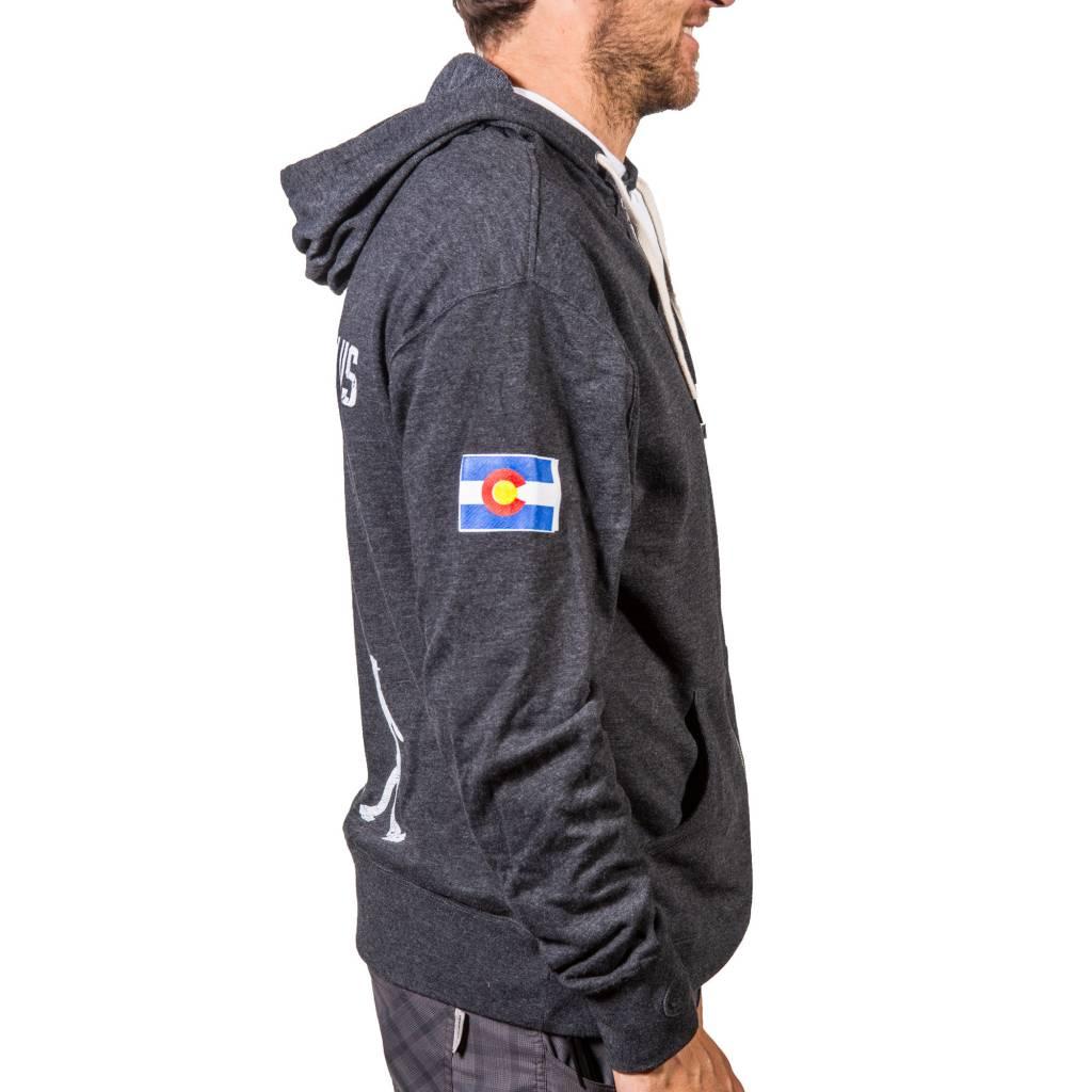 Walk With Us - Men's Hooded Sweatshirt Charcoal Small