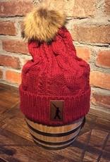 Beanie Maroon Fur Knit