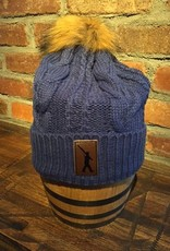Beanie Blue Fur Knit