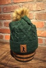 Beanie Green Fur Knit