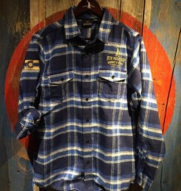 Flannel - Blue Men's Med