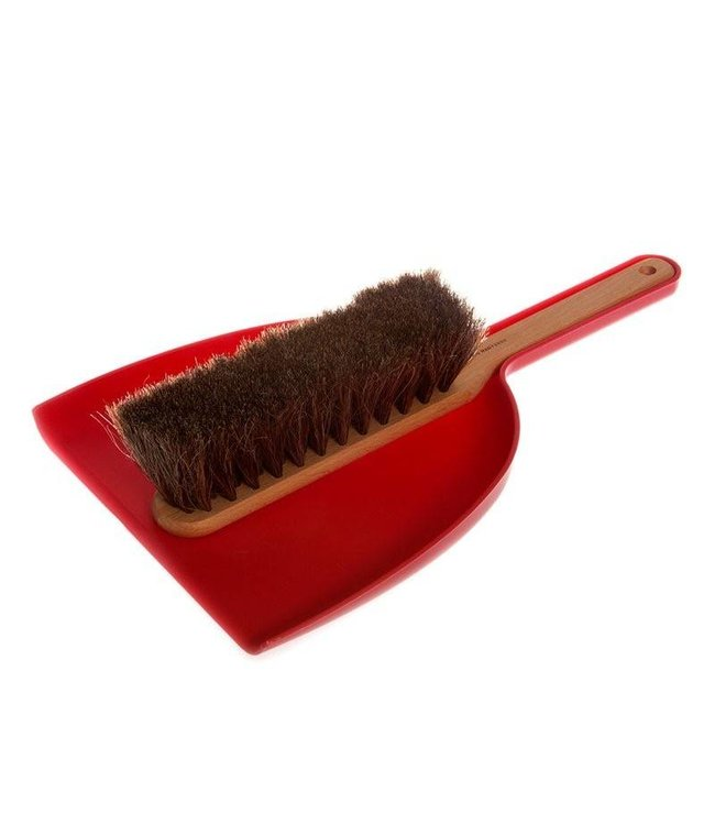 DUSTPAN + BRUSH SET   :   RED