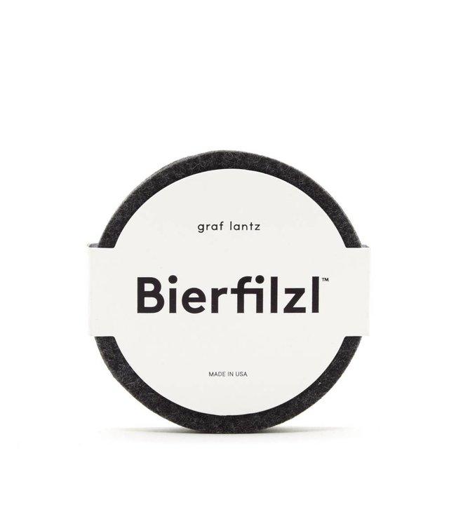 BIERFILZL ROUND COASTER   :   CHARCOAL