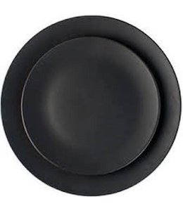 SALAMANCA DINNER PLATES   :   BLACK   :   SET OF 4