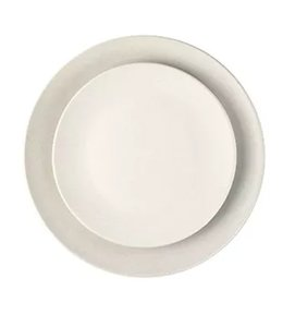 SALAMANCA DINNER PLATES   :   WHITE   :   SET OF 4