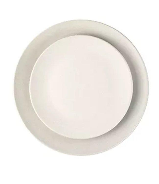 SALAMANCA DINNER PLATES   :   WHITE   :   SET OF 4