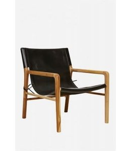 CAMPANYA CHAIR   :   EBONY LEATHER + TEAK