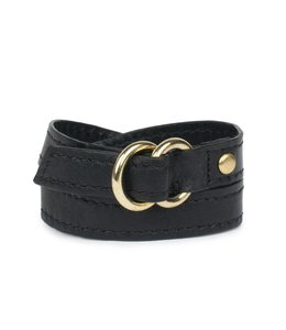 KENDALL CONRAD DOUBLE RING WRIST WRAP   :   BLACK
