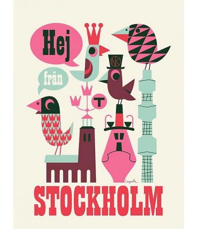 HELLO FROM STOCKHOLM POSTER   :   WHITE   :   UNFRAMED