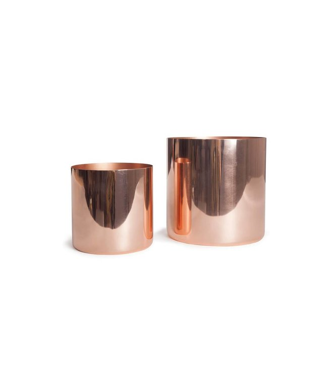 LOUISE CACHEPOTS : COPPER + BRASS