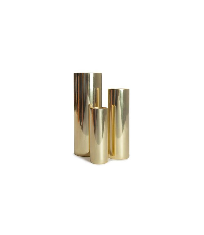 LOUISE VASES : COPPER + BRASS