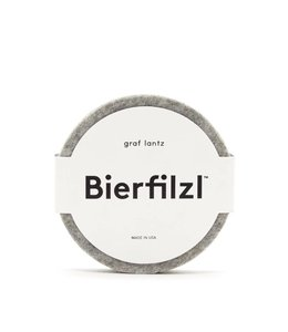 BIERFILZL WOOL FELT COASTER   :   GRANITE