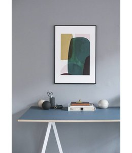 'NO. 10' BERIT MORGENSEN LOPEZ PRINT : FRAMED