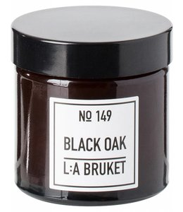 L:A BRUKET  SMALL SCENTED CANDLE  :  BLACK OAK
