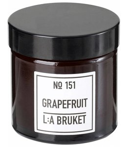 L:A BRUKET SMALL SCENTED CANDLE  : GRAPEFRUIT