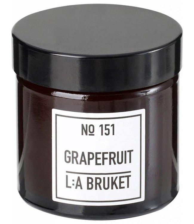 LA BRUKET SMALL SCENTED CANDLE   :   GRAPEFRUIT