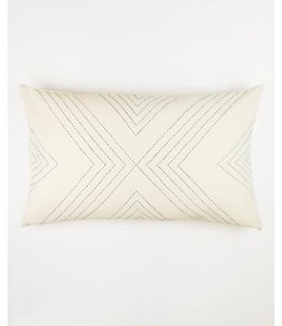 BONE GEOMETRIC THROW PILLOW