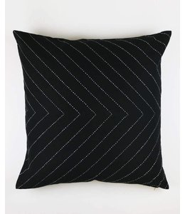 CHARCOAL ARROW THROW PILLOW